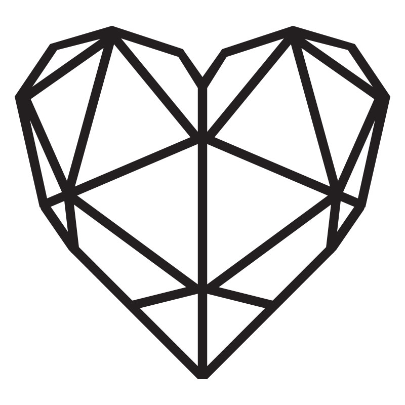 Buy A Metal Geometric Heart Online At Twentythree01