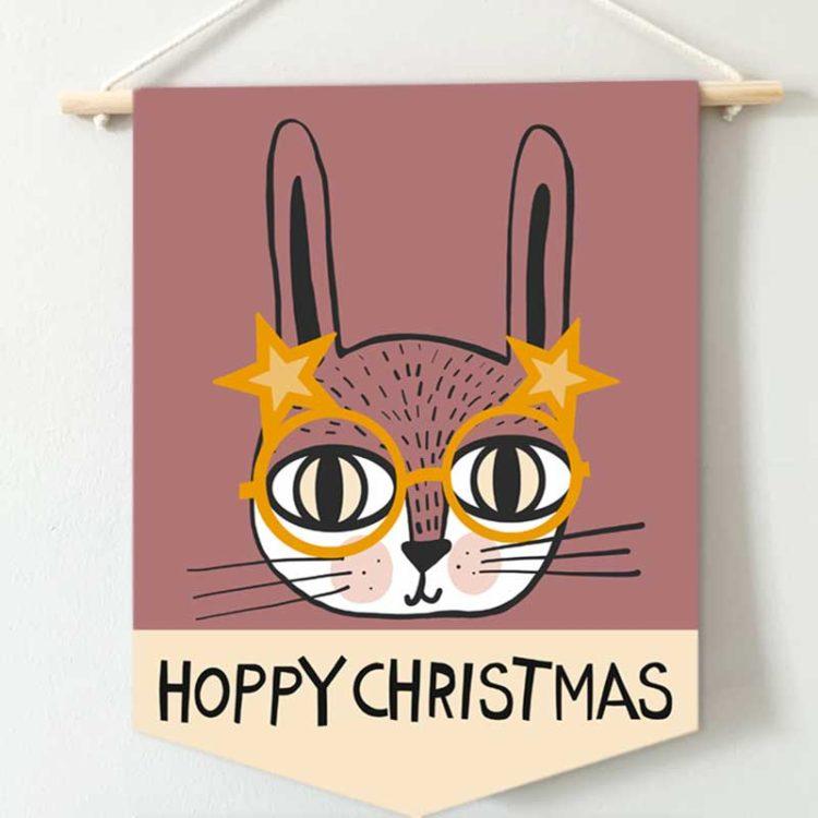 Hoppy Christmas Banner