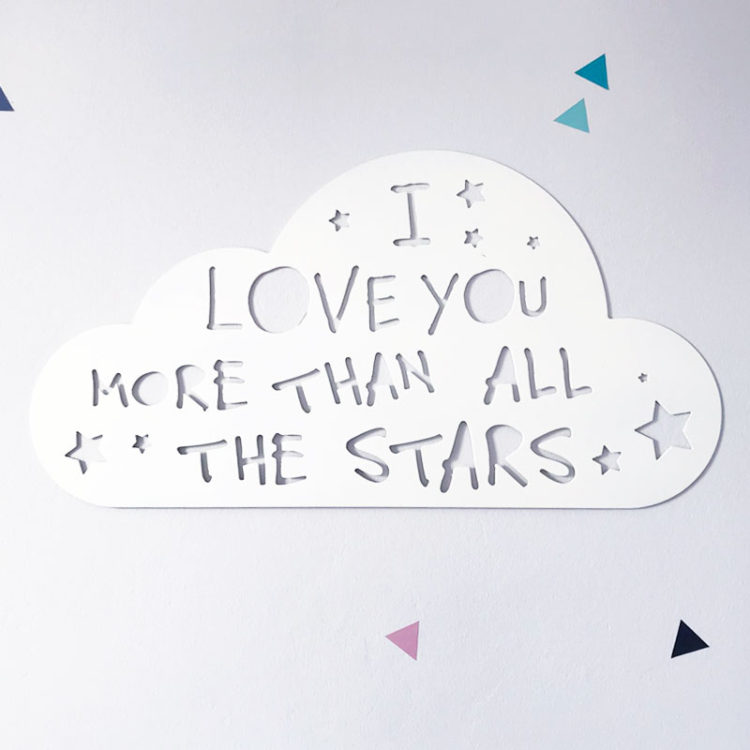I love you more than all the stars metal sign
