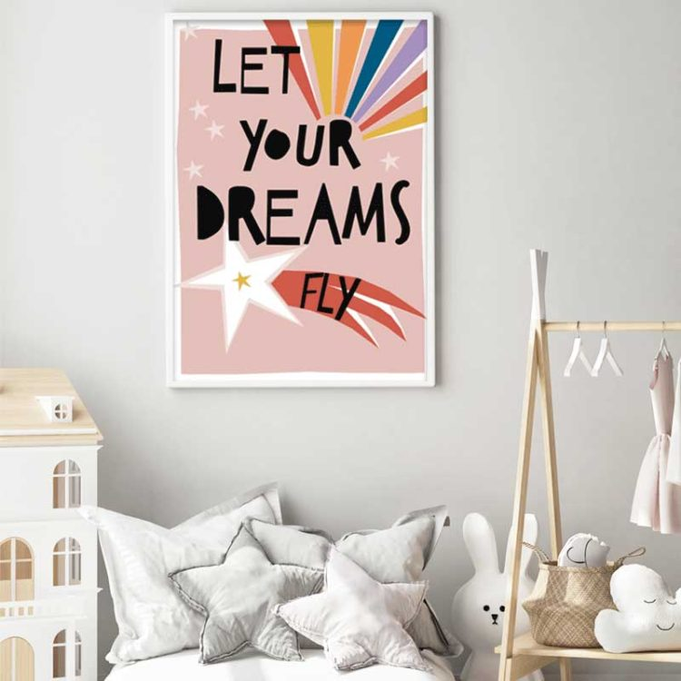 Let your dreams fly kids print