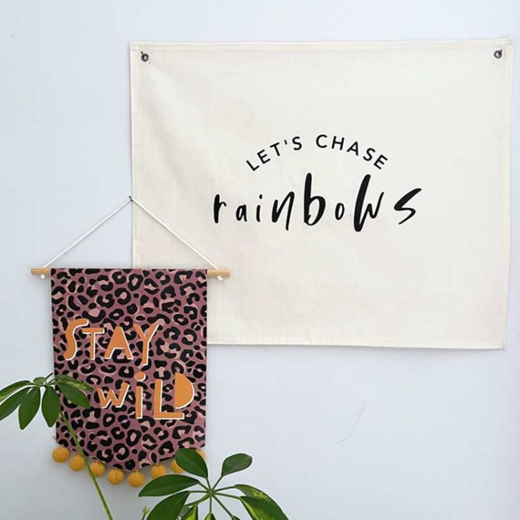 Let's chase Rainbows Wall Hanging
