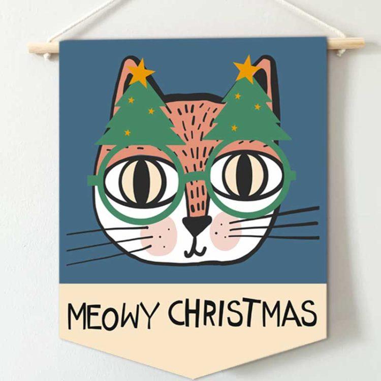 Meowy Christmas Banner