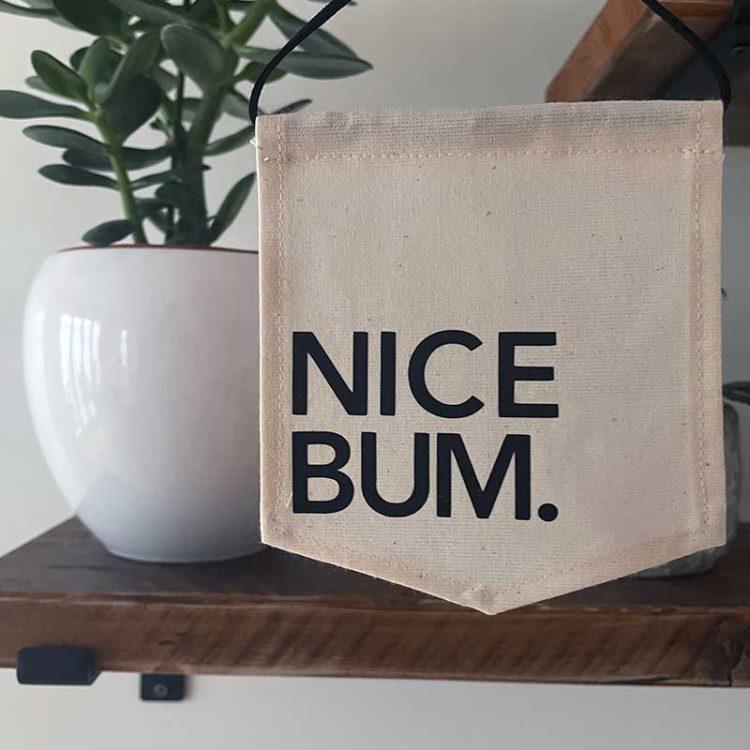 Nice Bum Mini Banner