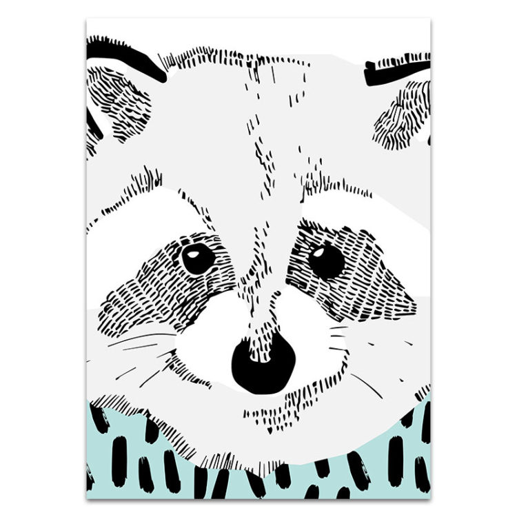 racoon print