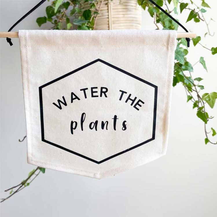 water the plants banner