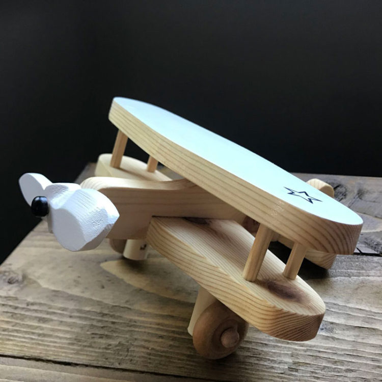 jones and parker wooden bi plane
