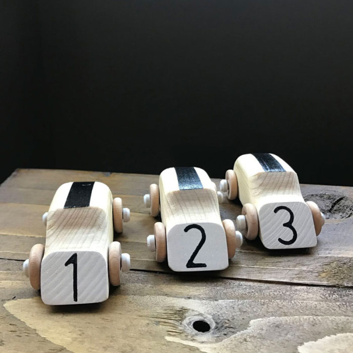 jones and parker wooden counting cars