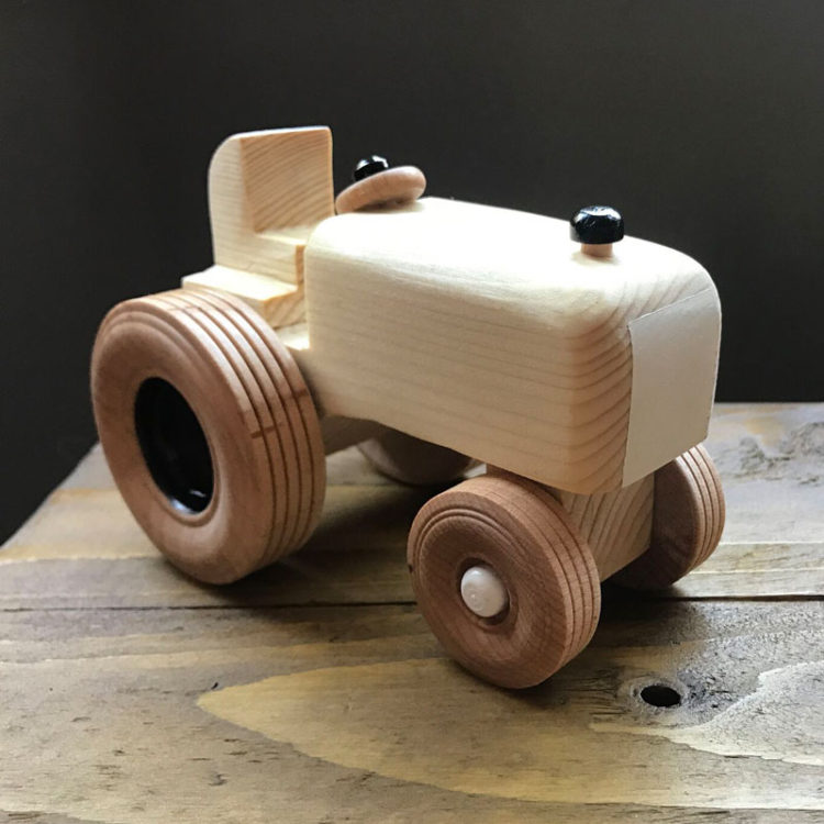 jones and parker wooden tractor