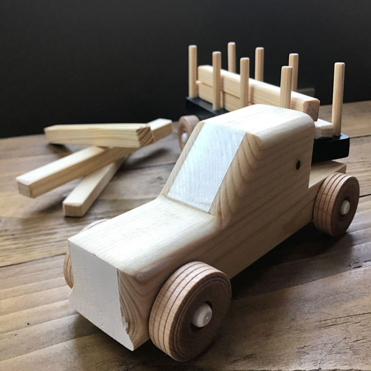 wooden timber truck